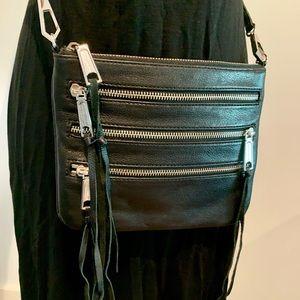 Rebecca Minkoff Bags - Rebecca Minkoff Black Leather Moto 3 zip crossbody